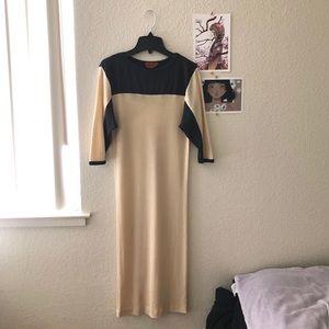 missoni vintage colorblock wool dress